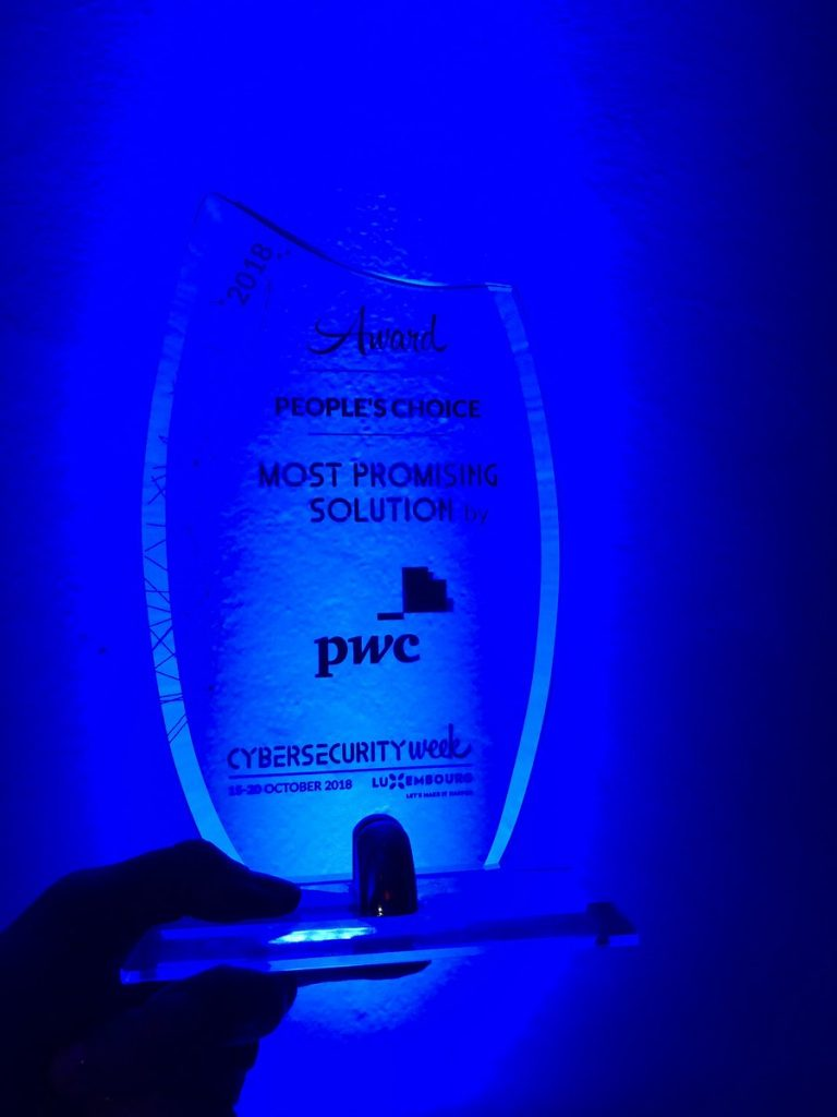 Hacknowledge won people choice most promising security solution at PWC Luxembourg Security Day